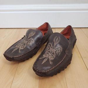 Robert Wayne Rays Slip-On Leather Driving Loafers